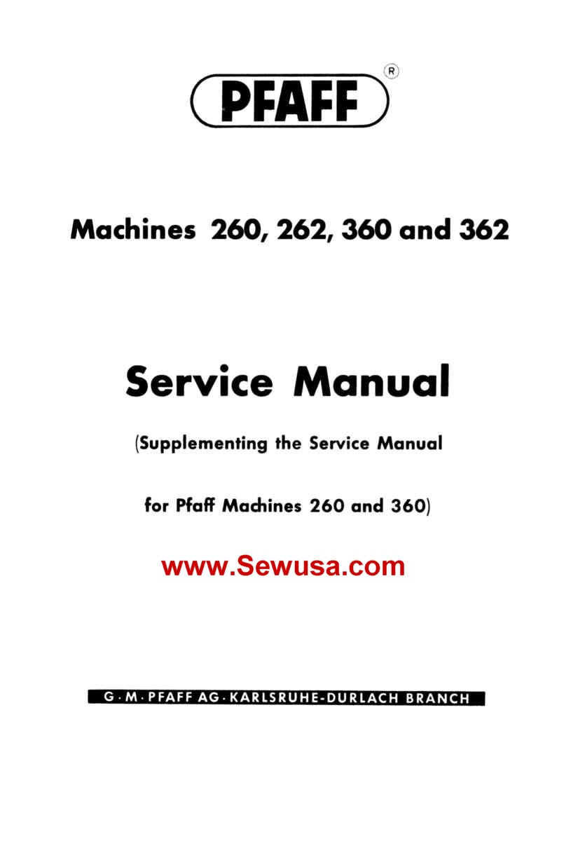 Service manual, pfaff 7570: sewing parts online.